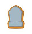 halloween cookie tombstone gingerbread rip vector image vector image