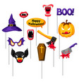 halloween photo booth props accessories for vector image