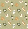 hand drawn seamless pattern with cute christmas vector image