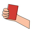 hand holding card sport icon vector image