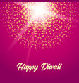 happy diwali greeting card mandala vector image