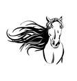horse hand drawn illustration vector image