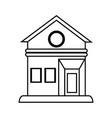 house facade silhouette vector image vector image