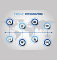 infographic design with family icons vector image vector image