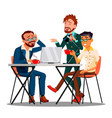 informal time at work characters employees vector image vector image