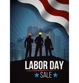 Labor day sale american text signs