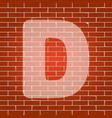letter d sign design template element vector image vector image
