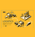 logistics company isometric web banner vector image vector image