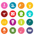 magic icons many colors set vector image vector image