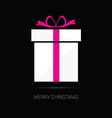 merry christmas gift box vector image vector image