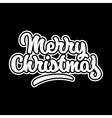 Merry Christmas Lettering Badge vector image