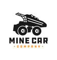 mine truck car logo vector image vector image