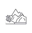 mountains line icon concept mountains vector image vector image