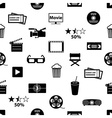 movie and cinema icons seamless pattern eps10 vector image vector image