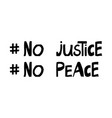no justice peace quote about human rights vector image vector image