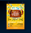 oktoberfest party flyer design with typography vector image vector image