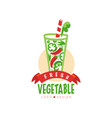 original logo for organic pepper beverage vector image vector image