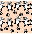 Panda seamless vector image vector image