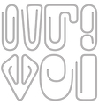 Paperclips vector image vector image