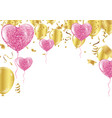 party balloons confetti greeting card design vector image