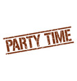 party time stamp vector image vector image