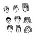 people face cartoon icon vector image vector image