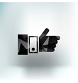 Pointing hand icon hand finger pointer touch vector image vector image