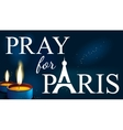 pray for paris Abstract Background Silhouette vector image vector image
