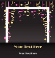 sale flayer with confetti and square white border vector image vector image