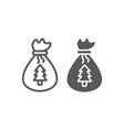 santas bag line and glyph icon christmas and gift vector image vector image