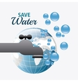 Save water ecology vector image vector image