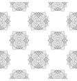 Seamless pattern with round lace pattern vector image vector image