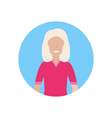 senior woman happy grandmother face avatar female vector image vector image