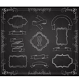 set chalkboard banners vector image