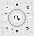 set of simple graph icons vector image vector image