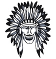Smiling Apache vector image