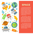 space commercial banner with planets and cosmic vector image vector image