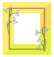 spring frame of green yellow vector image