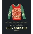 sweater invitation 3 vector image vector image