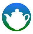 tea maker kitchen sign white icon in vector image vector image