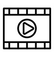 video player line icon media player vector image