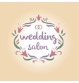 Wedding salon Vintage logo vector image vector image