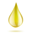 yellow drop of petrol vector image vector image
