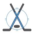 Sport team hockey badge vector image