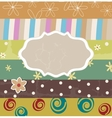 Scrapbook template vector image