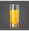 Orange juice in glass vector image