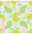 Abstract decorative seamless pattern with shapes vector image