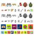 african safari cartoon icons in set collection for vector image vector image