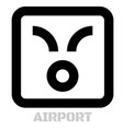 airport conceptual graphic icon vector image vector image