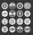 anniversary retro labels 90 years collection 2 vector image vector image